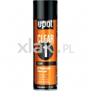 Lakier bezbarwny U-POL Clear 1 UV Resistant Spray 450ml