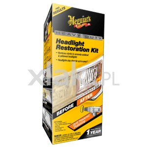 Renowacja reflektorów MEGUIAR'S Heavy Duty Headlight Restoration Kit